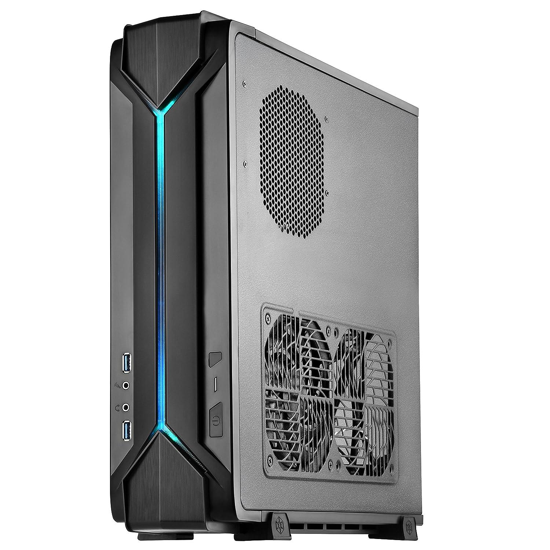 SilverStone SST-RVZ03B - Carcasa gaming para ordenador Raven Mini-ITX, RGB, negra