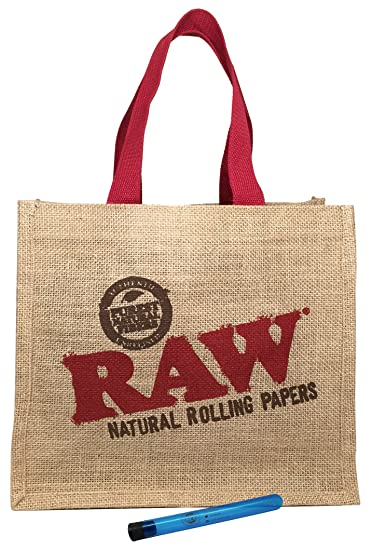 3fe90dcaab22 Amazon.com  RAW Burlap Tote Bag with RAW Natural King Size Pre ...