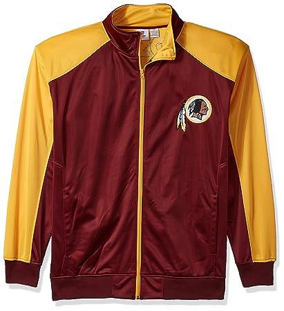 56b5ef01e Amazon.com   NFL Mens Redskins Full Zip Tricot Track Jack   Sports ...