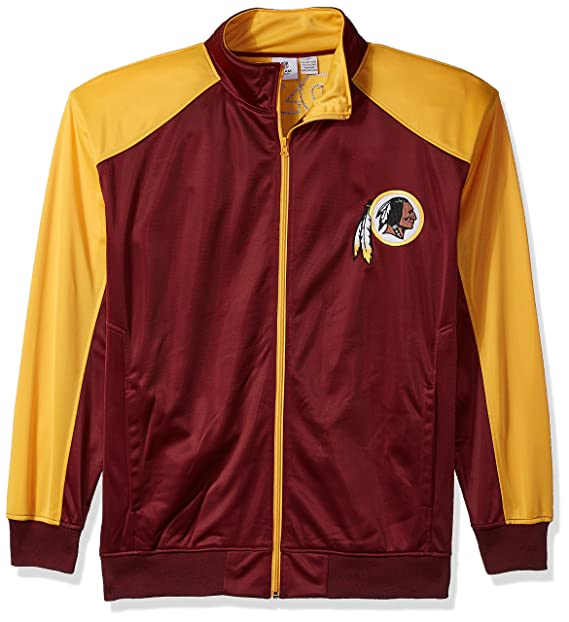 low priced 57f74 f4a26 NFL Mens Redskins Full Zip Tricot Track Jack