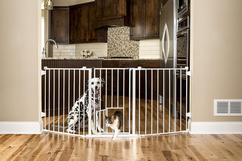 Carlson 76 Inch Wide Flexi Configurable Walk Through Pet Gate