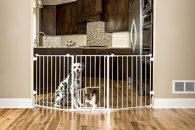 amazoncom carlson 76 inch wide flexi walk through pet gate pet supplies