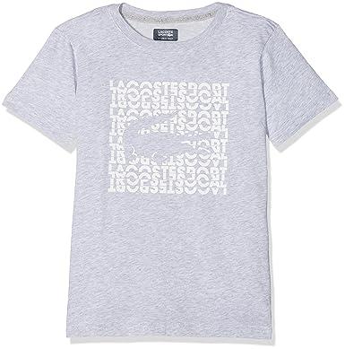 884497950 Lacoste Sport TJ5724 T-Shirt Gris (Argent Chine/Blanc) 10 Ans ...