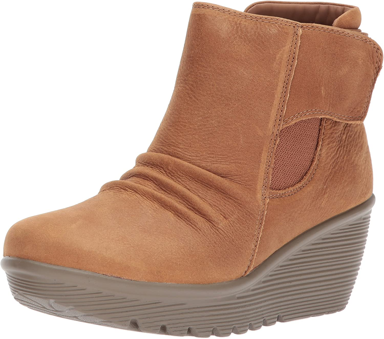 Parallel-Fastened Ankle Bootie,Tan
