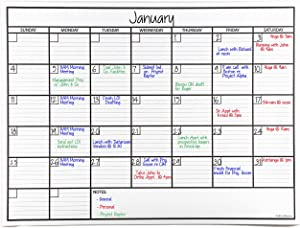 OfficeAid Laminated Jumbo Dry Erase Wall Calendar, 36-Inch by 48-Inch