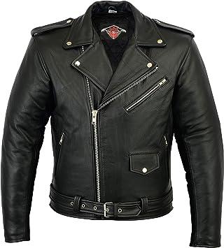 Men Motorcycle Brando Jacket Leather Motorbike Motocross Bike Black Top GREAT BIKERS GEAR