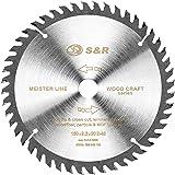 S&R Hoja de Sierra Circular Madera 160 mm x 20 mm (+ 16 mm anillo) x2,2mm 48D / Disco de Corte Madera. Calidad…