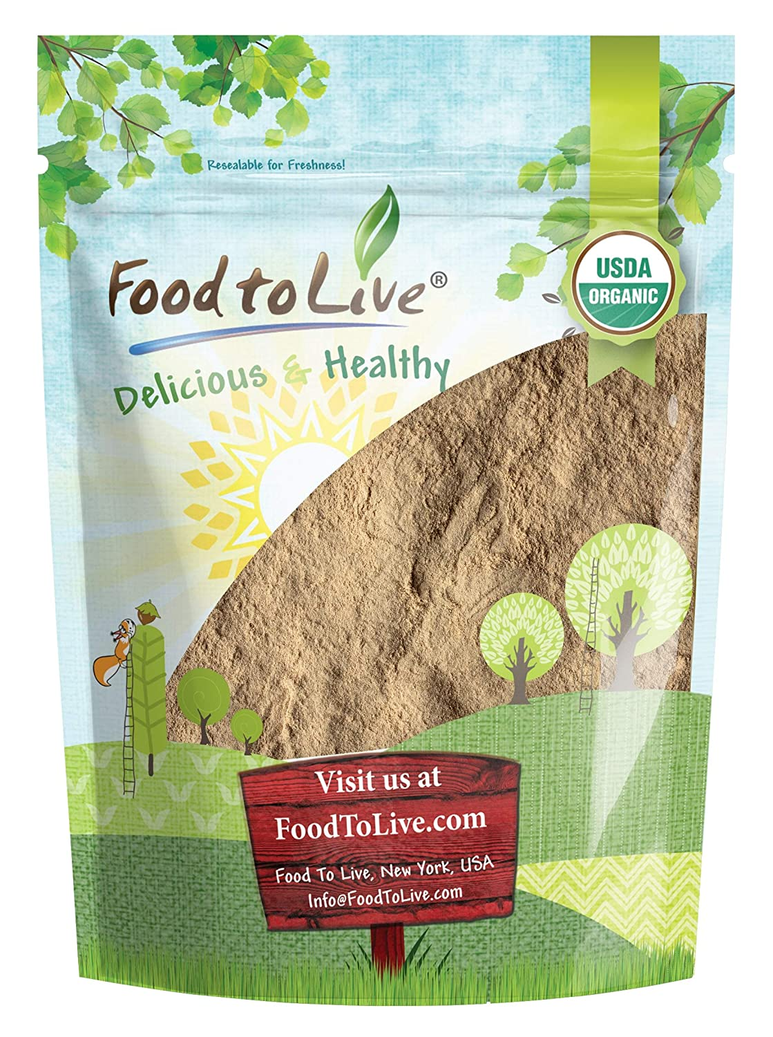 Organic Lucuma Powder, 8 Ounces — Raw, Non-GMO, 100% Pure, Non-Irradiated, No Additives, Paleo, Keto, Vegan Superfood, Bulk, Great for Juice, Drinks and Smoothies, Low Glycemic Index