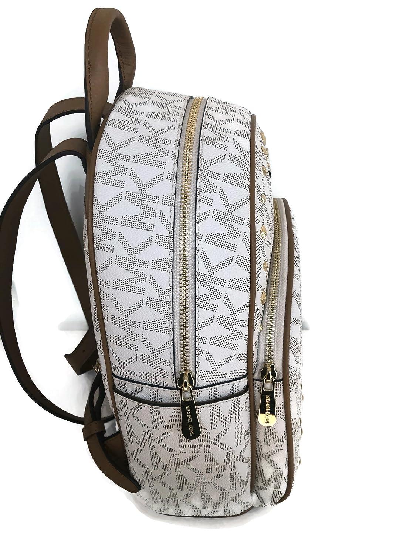 5ea4f379ee186 Amazon.com  Michael Kors Abbey Medium Backpack Vanilla MK Signature Stud  School Bag  Shoes