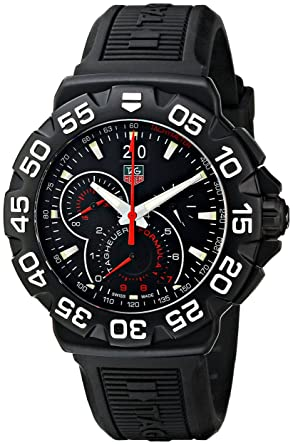 dd0e50160df Image Unavailable. Image not available for. Color  TAG Heuer Men s  CAH1012.BT0717 Formula 1 Grande Date Chronograph Watch
