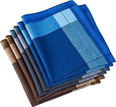 Pañuelos para hombre, 100% algodón suave, paquete de 6 Azul+10 Talla única: Amazon.es: Ropa y accesorios