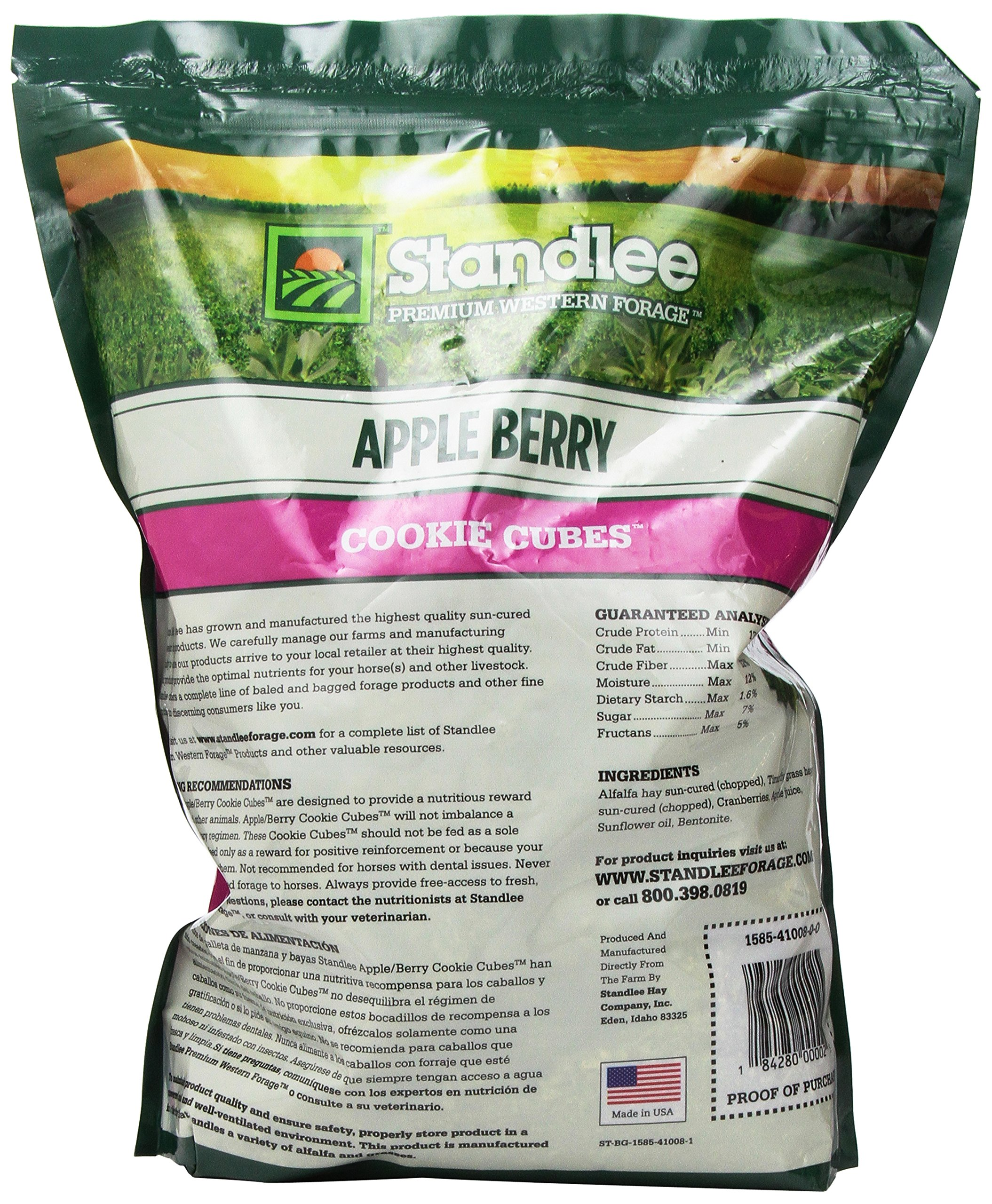 Standlee Hay Company Apple Berry Cookie Cubes Treats, Size 5