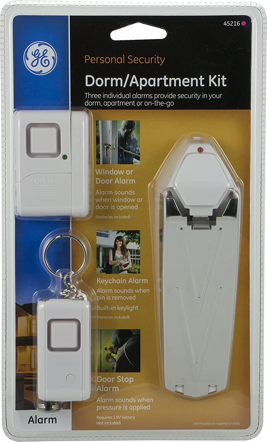 Amazon.com: GE Personal Security Kit, Keychain/Doorstop/Window or ...