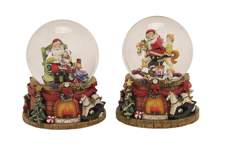 Amazon.de: Spieluhr Schneekugel Ø 10 cm x H 15 cm Weihnachten mit ...