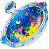Splashin'kids Inflatable Tummy Time Premium Water mat with Mirror and rattles Infants Toddlers The Perfect Fun time Play Acti