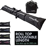 Athletico Ski Bag and Ski Boot Bag Combo - Ski Bags for Air Travel - Unpadded Snow Ski Bags Fit Skis Up to 200cm - for Men, W