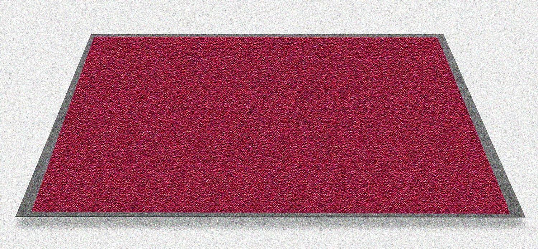 Mars waschbare robuste Schmutzfangmatte 135 x 200 cm, Farbe rot. Hergestellt in Westeuropa.