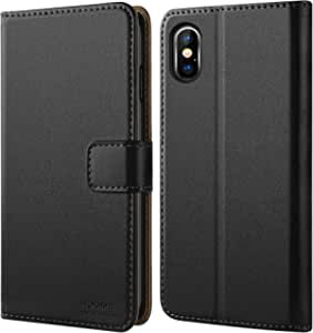 HOOMIL iPhone Xs Max Case, Premium Leather Case for iPhone Xs Max Phone Cover (Black)