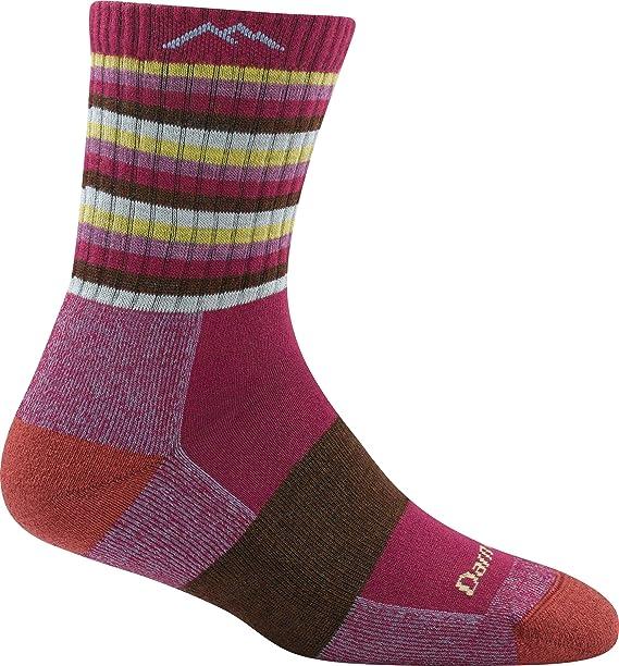 Darn Tough Vermont Women's Bike Socks Large-White//Green//Pink 1783 Brand New !!