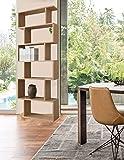 WestWood PB 6 Tier S Shape Bookshelf Bookcase Stand Storage Display Unit Home Furniture Study Office Cupboard Cabinet Rack Divider PB01 Oak