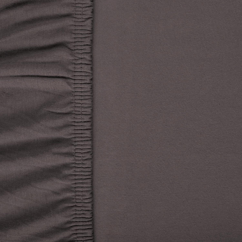 aqua-textil Viana sábana Bajera Ajustable algodón, Antracita 90x200 bis 100x200 cm: Amazon.es: Hogar