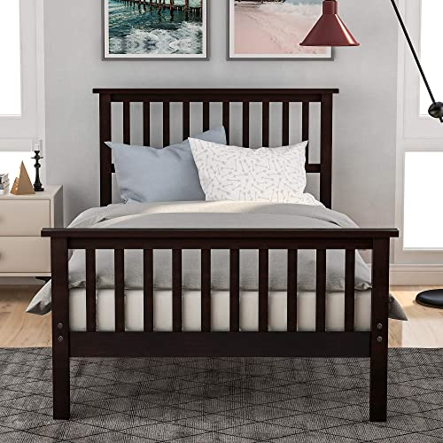 Merax Twin Bed Frame Wood Platform Bed