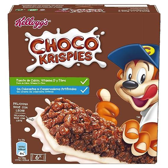 Choco Krispies - Barrita De Cereales con cacao y leche, 6 x 20 g