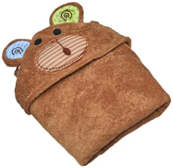 Amazon.com : ZOOCCHINI Baby Animal Face Hooded Bath Towel, Newborn ...