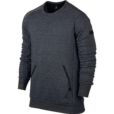 a9d3f29a Nike JORDAN ICON FLEECE MEN'S SWEATSHIRT (M, Grey/Black) at Amazon ...