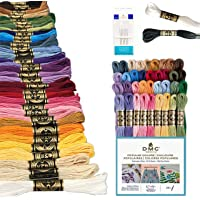 DMC Embroidery Floss Pack, Popular Colors, DMC Embroidery Thread, DMC Floss Kit Include 36 Assorted Color Bundle with…