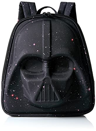 a494ddb237 Amazon.com: Loungefly Star Wars Galaxy Print Darth Vader 3D Molded  Backpack, Black: Clothing