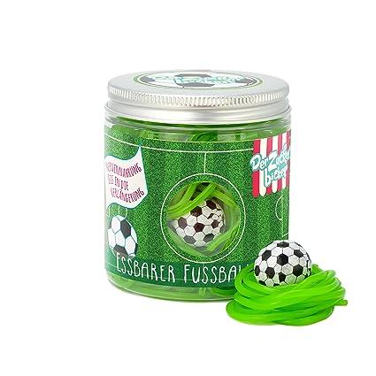 Der Essbare Fussballrasen 150g Sussigkeitendose Mit Fruchtigen Apfel Fruchtgummi Schnuren Und Kaugummi Ball