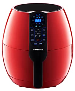 GoWISE USA 3.7-Quarts 8-in-1 Air Fryer + 50 Recipes for your Air Fryer Book (3.7-QT Red Air Fryer)