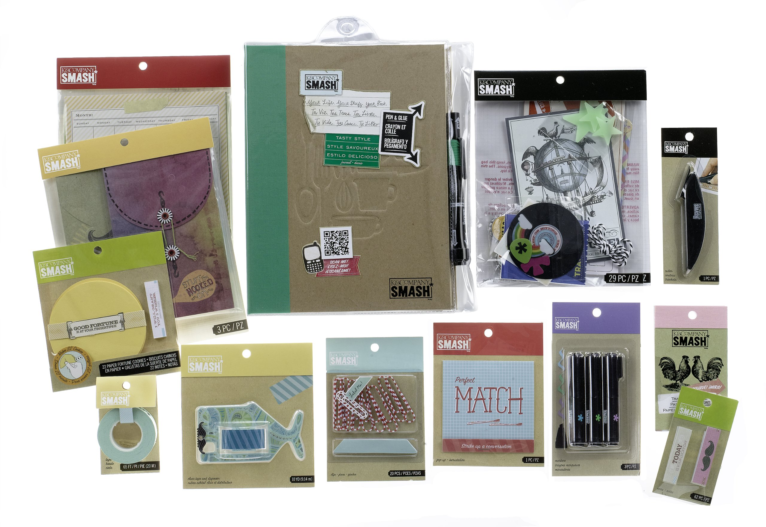 K&Company SMASH Scrapbooking Folio Kit, Tasty