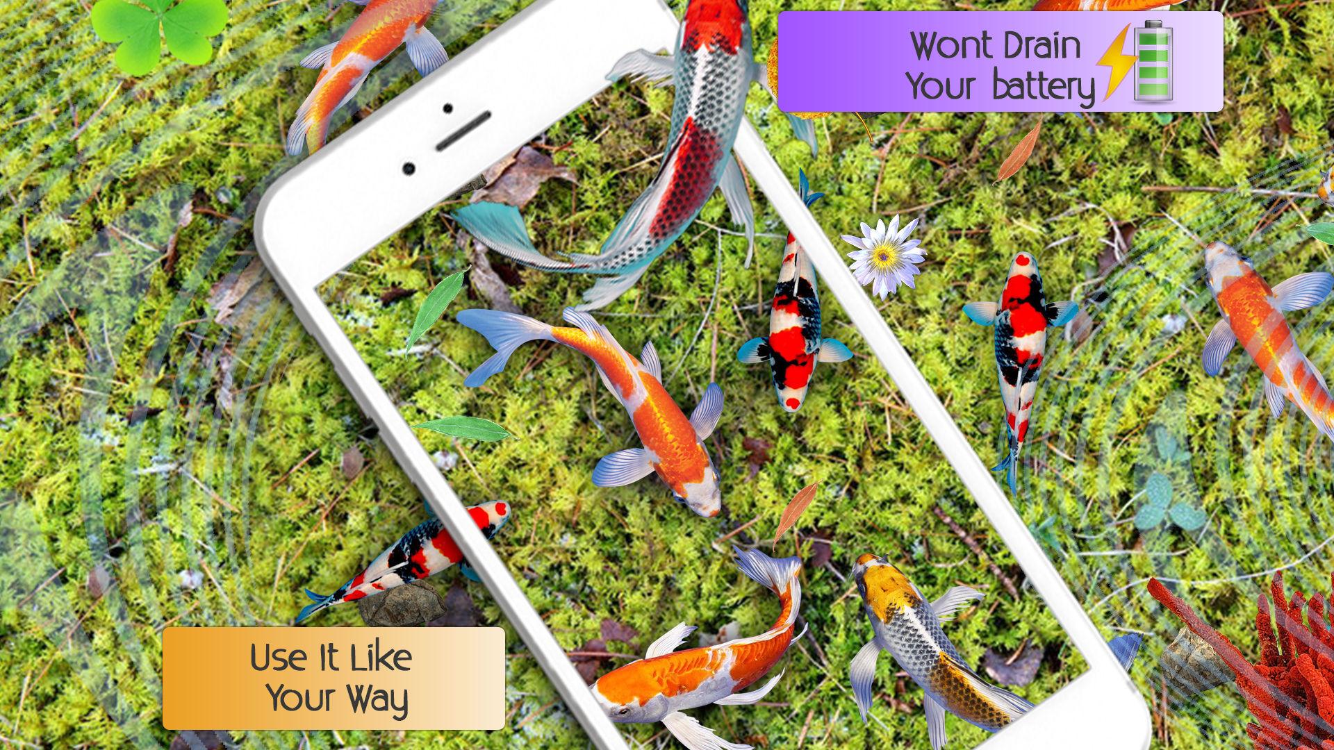 fondos de pantalla de peces vivos HD - tema de agua real 3D