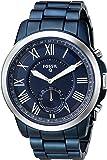 Fossil Men's Q Grant Hybrid Smartwatch Blue Watch, (FTW1140)