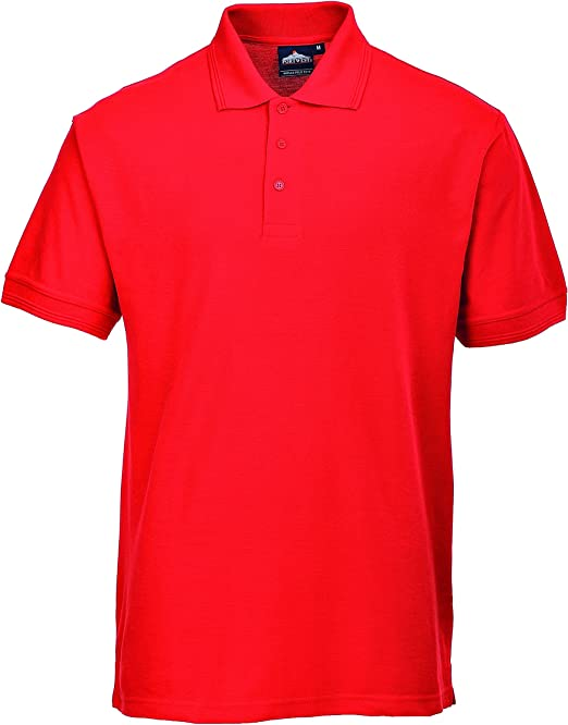 Portwest B210 - Camisa Polo Nápoles, color rojo, talla XSmall ...