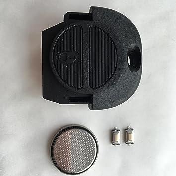 Nissan 2 botón Almera Primera Micra X prueba Nats Remote Key Fob Case Kit de reparación DF: Amazon.es: Electrónica
