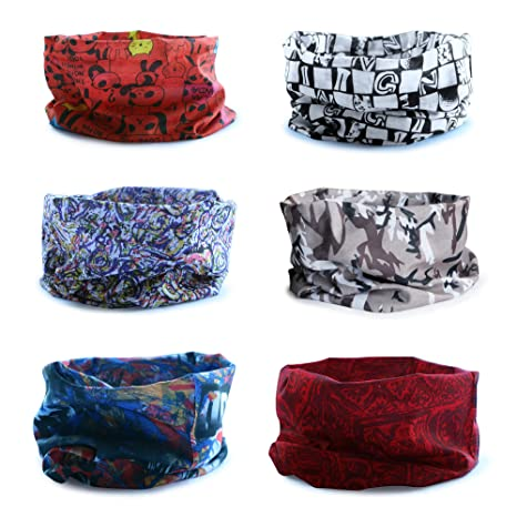 dc40a098855 Datechip Multifonctions Magic 12 en 1 Bandeau Foulard Bandana écharpe  anti-insectes UV  Paisley