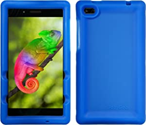 BobjGear Bobj Rugged Tablet Case for Lenovo Tab 7 Essential (TB-7304F) (TB-7304I) (TB-7304X) - BobjBounces Kid Friendly (Batfish Blue)