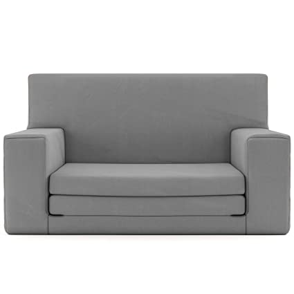 2b234e16c Charlie & Finn 2 en 1 sofá Cama Infantil Color Gris de Espuma  viscoelástica: sofá Cama súper Suave y Seguro para niños Entre 1 y 4 años,  Tumbona para TV ...