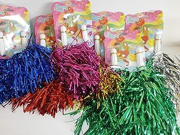 2 Stück Cheerleader Pompom Pompoms Pom Pom  ca 36 cm Farbauswahl