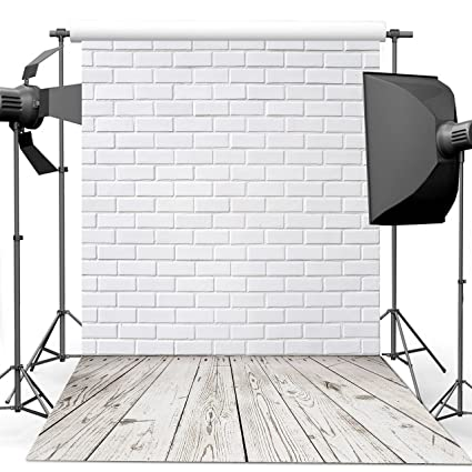 d8770bf4e6c42 Dudaacvt 5x7ft Vinyl Photography Backdrop White Brick Wall Wood Floor  Portable Small Holiday Photo Background Seamless