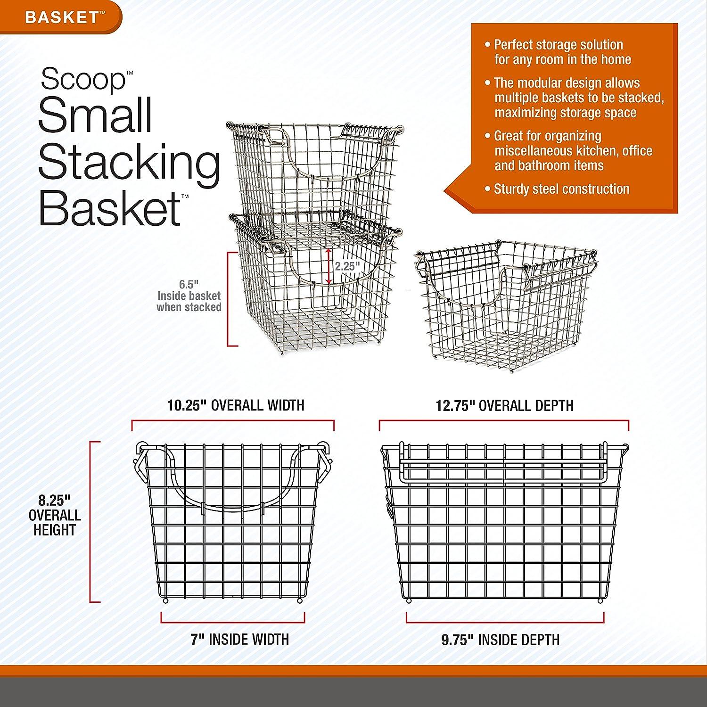 Medium Bronze 03224 Spectrum Diversified Scoop Stacking Storage Basket