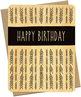 product image for Arrows Real Wood Birthday Card by Night Owl Paper Goods