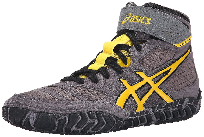 ASICS Men\'s Aggressor 2 Wrestling Shoe Graphite/Sunflower/Black