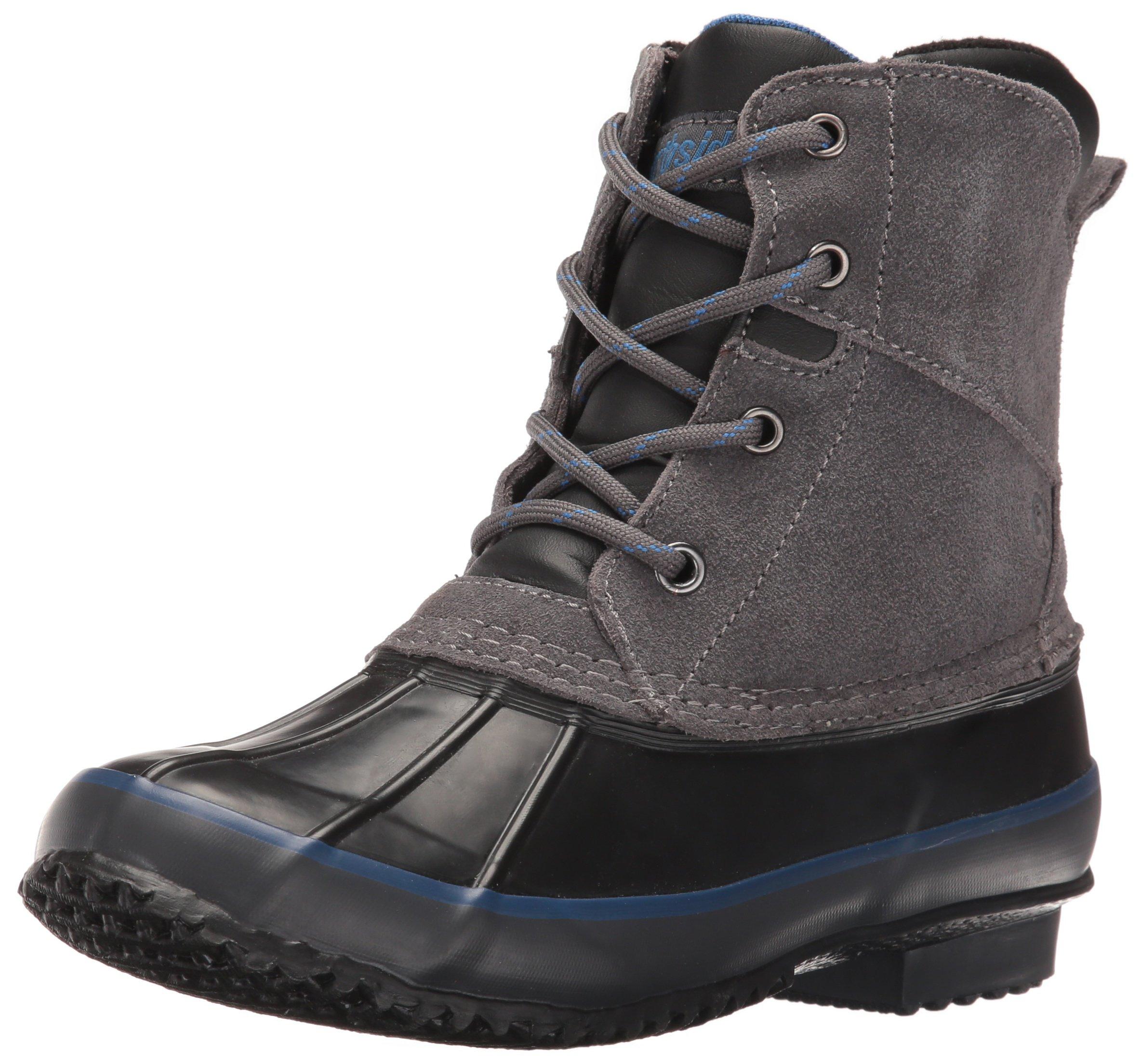 Northside Lewiston Boy's Waterproof Lace-up Duck Boot (Little Kid/Big Kid),Charcoal,4 M US Big Kid
