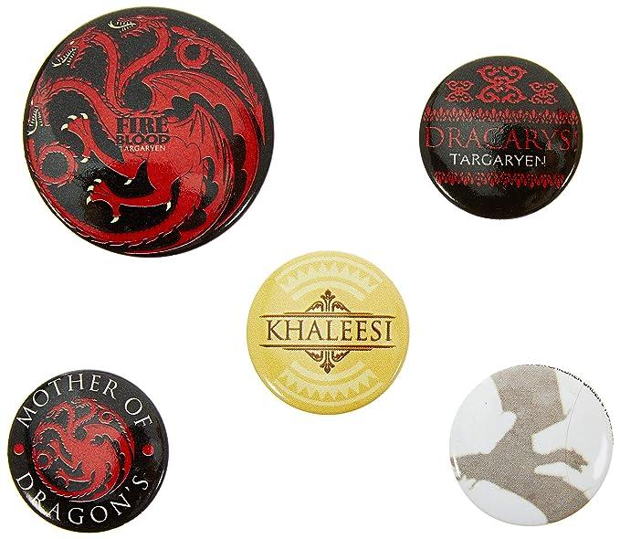 Amazon.com: Juego de Tronos fuego y sangre insignia (Pack de ...