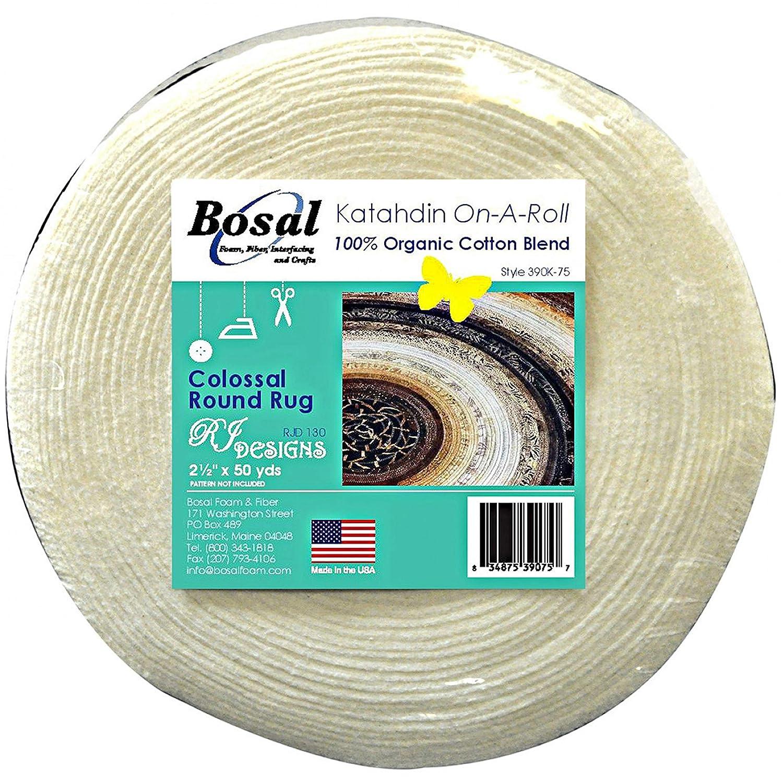 Bosal Katahdin 100% Organic Cotton Blend Batting On A Roll 2.5 inches x 50 Yards