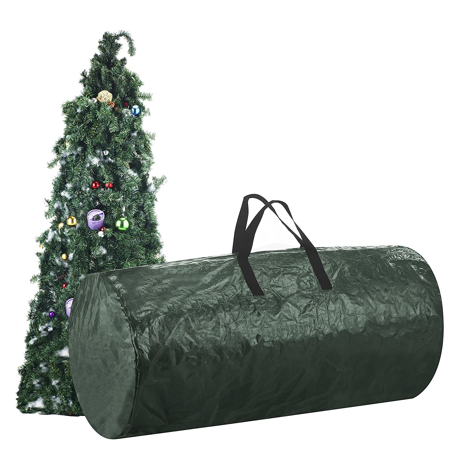 amazoncom elf stor 30 inch by 60 inch christmas tree storage bag green home kitchen - Christmas Tree Bag Storage
